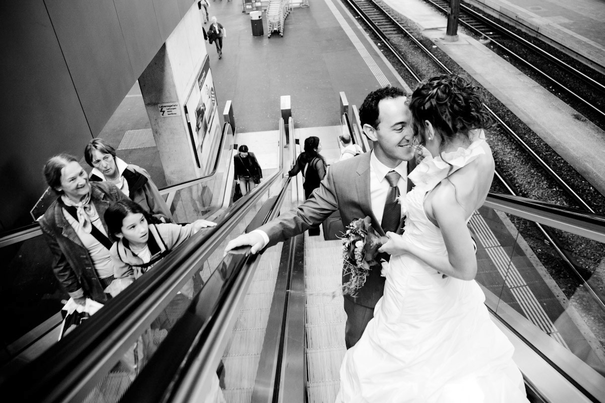basel switzerland train station wedding