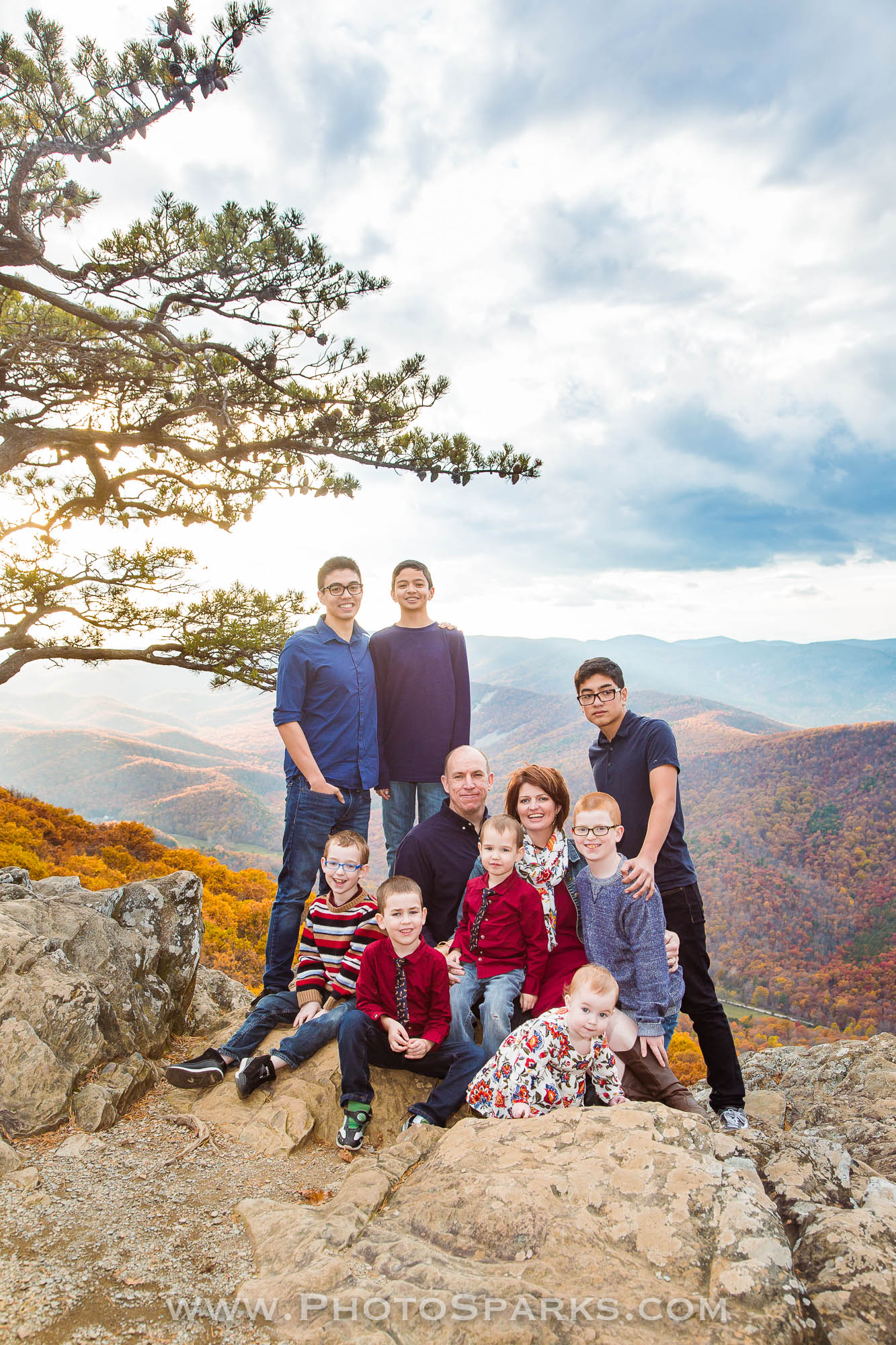 blue ridge parkway, virginia, portraits, family, november, fall,
