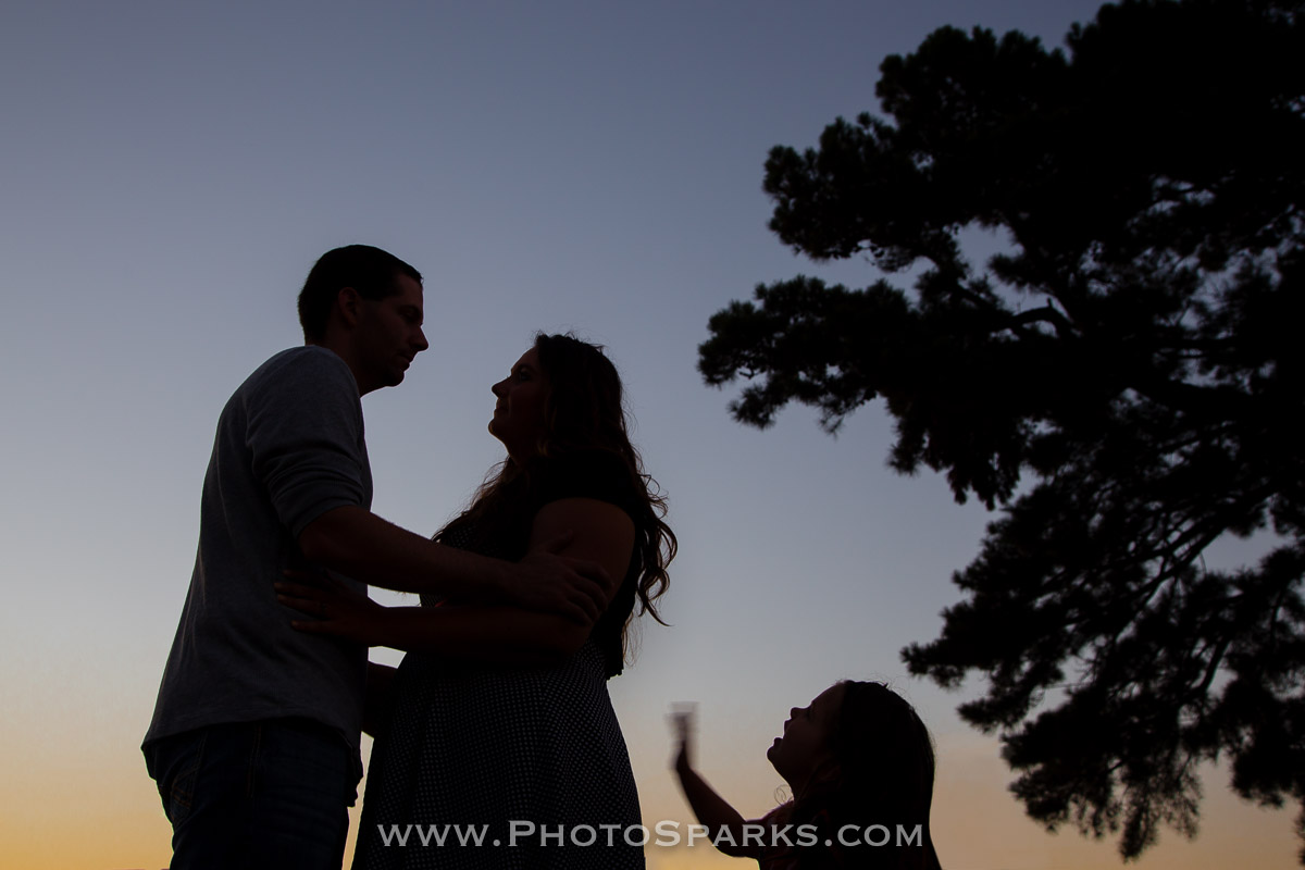 Family portrait silhouette in Fort Smith, Arkansas